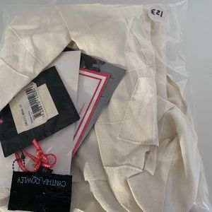 Cynthia Rowley Dresses - Cynthia Rowley Grosgrain Ribbon dress Creme